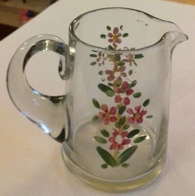 Small Hand Painted Glass Jug 1920's