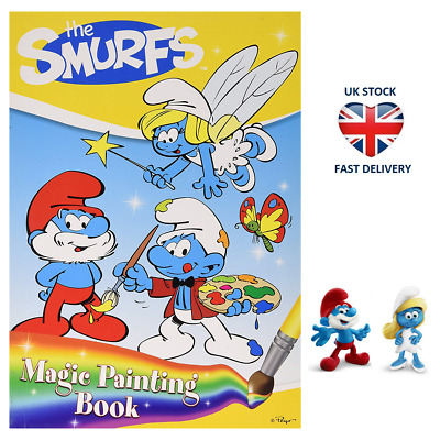 THE SMURFS MAGIC PAINTING BOOK Paint with Water Activity Arts & Craft Smurfette