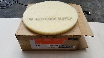 "13"" Floor Buffing Pads 3m 4200 Begie box of 5"