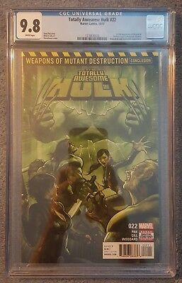 Totally Awesome Hulk #22 1st Print - 1st app of Weapon H - CGC 9.8 (NM/MT)