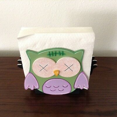 1 of 4 hp hand painted wooden halloween mummy owlfranky owl napkin holder day death