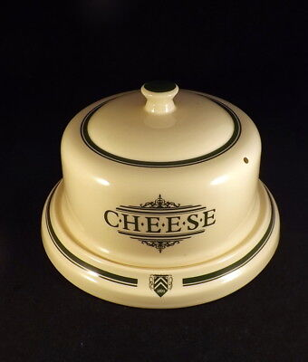 1869 Victorian Pottery Co  - Large Cheese Dome - Green Stripe