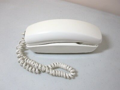 Vintage Western Electric Bell System Trimline Phone White 12 Round Button