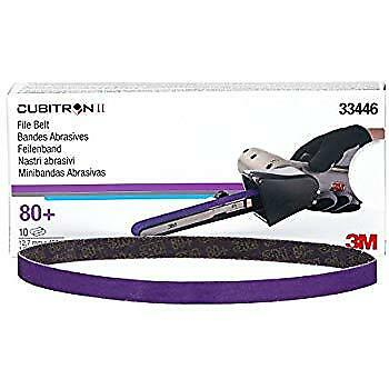 "3m 33446 1/2"" x 18"" 80+ grade 10 Belts  Cubitron II File Belt"