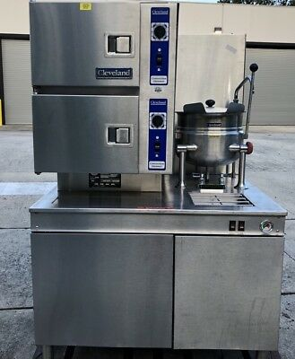 Cleveland Manitowoc 42CKGM-300 Natural Gas Oven w/6 Gal Steam Kettle FREE SHIP!