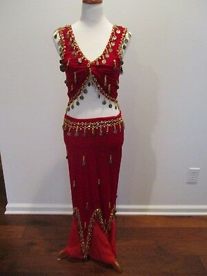 Belly Dancing 5-Piece Professionally-Made Outfit _Sz. M