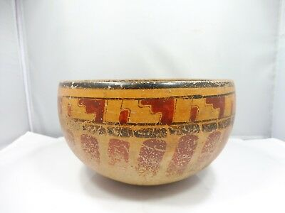 Authentic Pre Columbian Or American Southwest Indian Pottery Vessel Bowl