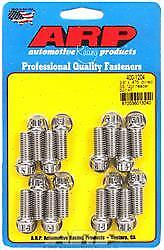 ARP 400-1204 Header Bolts 0.850 in UHL 3/8-16 in Thread SBC Ford 12-Point