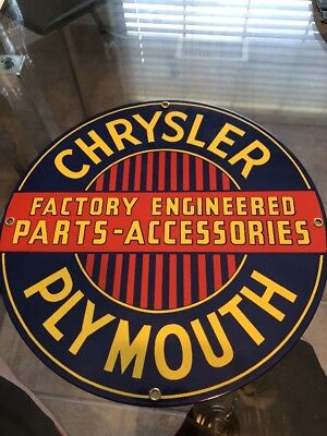Vintage Style Chrysler Plymouth Porcelain Ande Rooney Advertising Sign