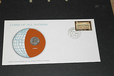 Cyprus Coins Of All Nations 1977 25 Mil Coin Unc