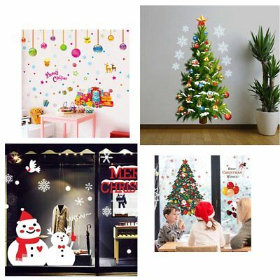 DIY Merry Christmas Wall Decoration Stickers Removable Rooms Wall Decals C5