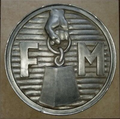"Rare 1950S FM FAIRBANKS MORSE Locomotive Engine 14"" Builders Plate Railroad Sign"