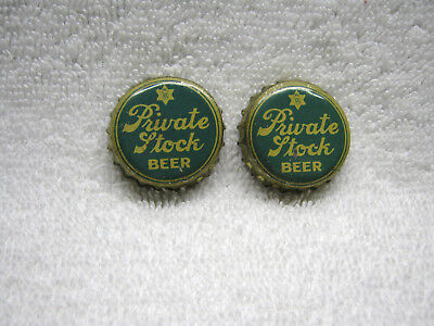 Antique Private Stock Beer Bottle Cap X 2