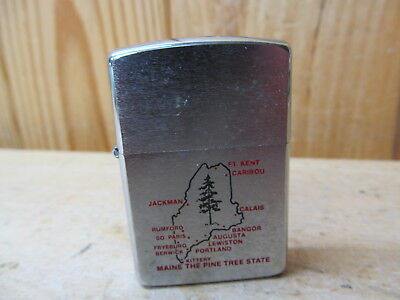 Zippo Lighter B V – Vintage – Maine: The Pine Tree State
