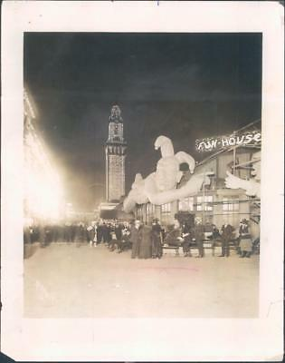 Chicago, Il Real Photo White City Amusement Park Suntimes Photo of Midway