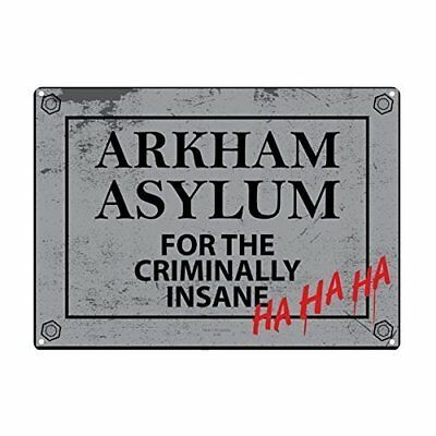 Tin Sign Small Batman Arkham Asylum (c0Q)