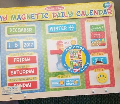 Melissa Doug My First Daily Magnetic Calendar 19 99 Picclick