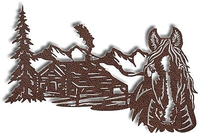 DXF CNC dxf for Plasma Cabin Horse Home Decor Vector Panel Plasmacam