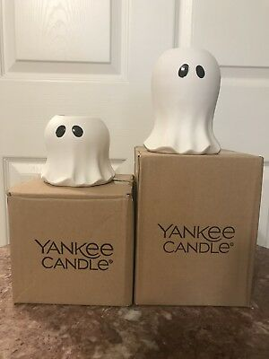 Yankee Candle Halloween Large And Small Ghosts Tealight Holder New In Box