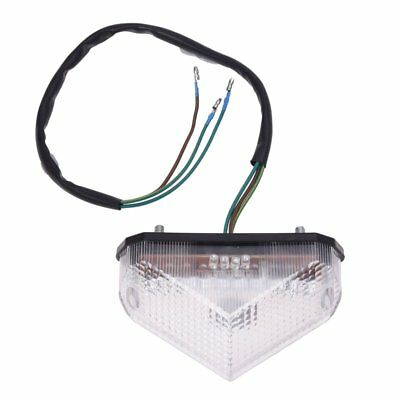 3X(Motorcycle 10 LED Red Brake Running Turn License Plate Tail Light Quad A Y4O6