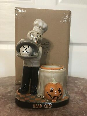 Yankee Candle Halloween Head Chef Votive Holder New In Box