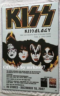 KISS KISSOLOGY 3 Promo Poster Original Not Aucoin MINT Promotional Ace 24X36 HTF