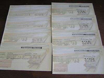 8 railroad train rail tickets grand canyon amtrack menu