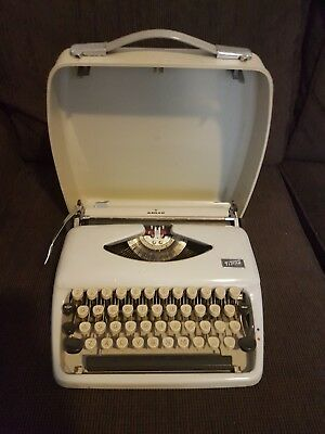 Adler Tippa Typewriter (Holland) 1960's? with Original Case (Western Germany)
