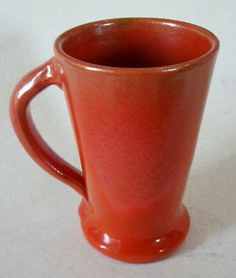 "Vintage ""CATALINA ISLAND POTTERY"" Large Handled Mug / Stein – Toyon Red Glaze"
