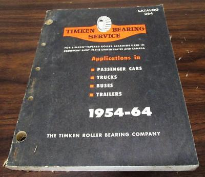 1954-64 Timken Bearing Service Automotive Applications Dealer 338 Pg Catalog M
