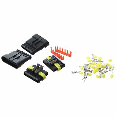 3X(2 Set 6 Pin Male Connector Tabs 1.5 mm Motorcycle Waterproof P2O6