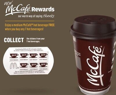 Mccafe coffee Vouchers (Frêê Coffee) WE ARE BACK! LIMITED QUANTITIES, Read Below