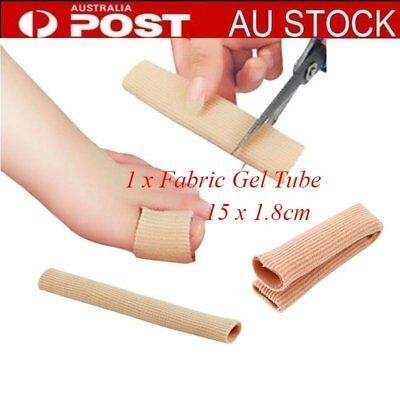 Fabric Cover Ribbed Knit Gel Finger Toe Caps Protector Cover Sleeves Tube BU