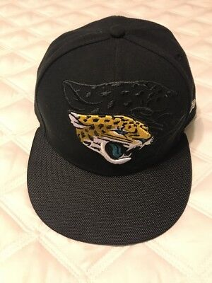 save off 9f609 41e8f New Era Jacksonville Jaguars - Black Teal Fitted NFL Hat Sz 7 1 2 59Fifty