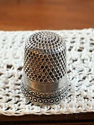 Antique Sterling Silver Thimble Marked 78 Sterling