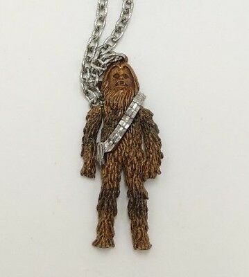 Vintage 1977 Metal Chewbacca Necklace With Swinging Arms 20th Century Fox