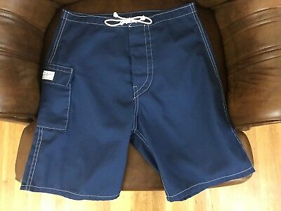 Vintage 1960s Surf Shorts Custom Made Canvas by Katin Surfside CA Men's Size 28