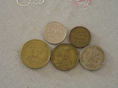 5 vietnam coin coins money gold note bill bank chip war asia cash pig currency