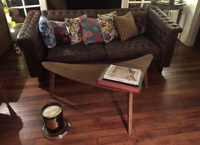 RARE Table Basse 1950 Chêne Scandinave Coffee Table