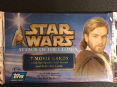 Star Wars Attack Of The Clones Topps Movie Cards Sealed Free Shipping New
