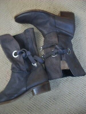 Brilliant Imported (Italy ) Daniel Claude Calf Length Slouch Boots,sz. 7 - 38