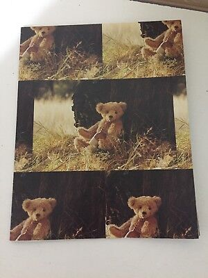 Various teddy bear scrapbook gift wrap posters - new never used