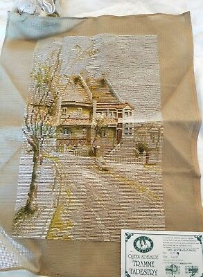 BRAND NEW QUEEN ADELAIDE Trammed TAPESTRY CANVAS & WOOL No. A517 HOMESTEAD