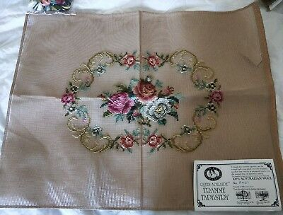 BRAND NEW QUEEN ADELAIDE Trammed TAPESTRY CANVAS & WOOL No. A437 FLOWERS