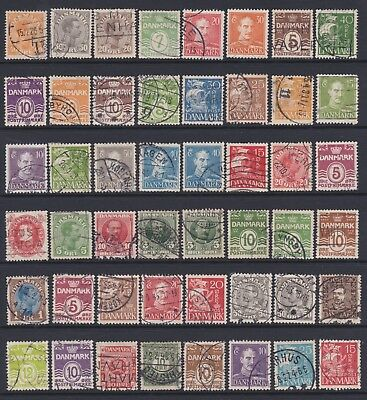 DENMARK - Selection of mainly used stamps on stock page, just as scan - Ref B346
