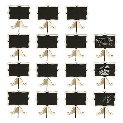 Wood Rectangle Small Chalkboard Signs for Wedding Table Numbers U6Y3