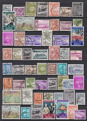 BANGLADESH - Selection of mixed stamps on stock page, as scan - Ref B372