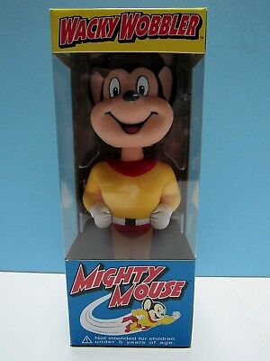 "Rare Mighty Mouse 7"" Wacky Wobbler  ""here He Comes To Save The Day"" - 2002 -New"