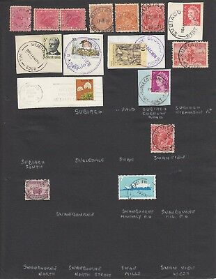 Western Australia page of  postmarks S