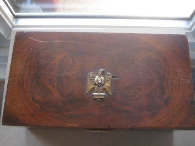 Antique French Eagle 105 Decorated Wooden Box,  203HELBPLJUN18